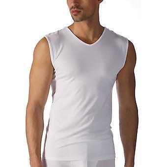 MEY 42537 muži ' s software bílý mikromodální V-krk nádrž vesta nahoře