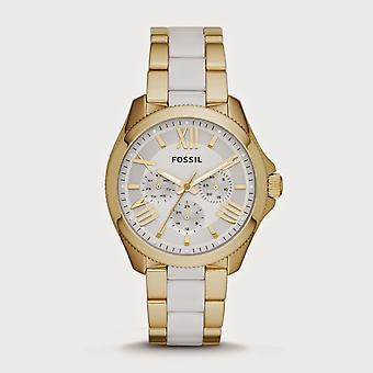 Fossil  Ladies Watch Two Tone Gold And White AM4545