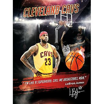 Lebron James Poster I'm Like A Superhero Basketball Man Cavs Art Print (18x24)