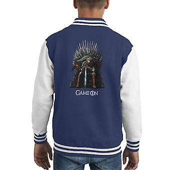Legend Of Zelda Link Game Of Thrones Iron Throne Kid's Varsity Jacket