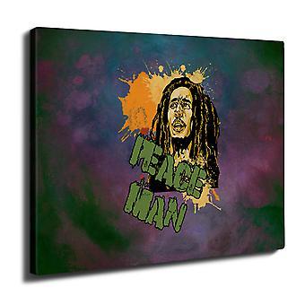 Bob Marley fred Rasta veggen kunst lerret 40 cm x 30 cm | Wellcoda