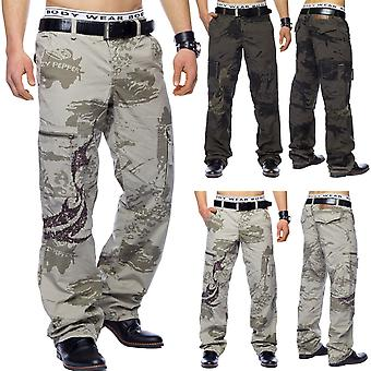 Cargo pants Army Loose Fit Cargo Pants Work Trousers Beige Khaki Baggy Pants Ranger