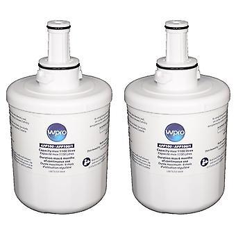 2 x interne Wasserfilter Wpro Kühlschrank für Samsung & Maytag