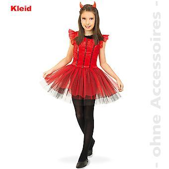 Teufel Mädchen Davil Satankostüm Teufelin Ballerina Kinder Halloween Kostüm