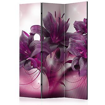 3-teiliges Paravent - The Purple Flame [Room Dividers]