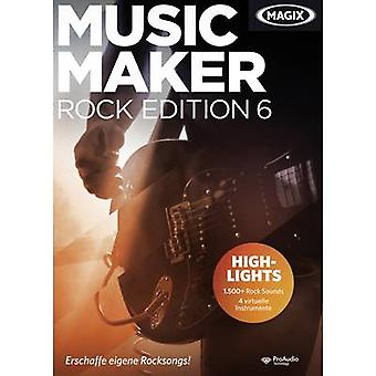 Magix Music Maker Rock Edition 6 Fullversjon, 1 lisens Windows Music