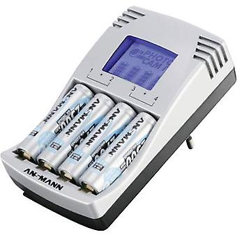 Ansmann Photocam IV NiCd, NiMH AAA , AA Charger for cylindrical cells incl. rechargeables