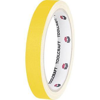 TOOLCRAFT HEB19L10GC HEB19L10GC Cloth tape HEB19L10GC Yellow (L x W) 10 m x 19 mm 1 Rolls