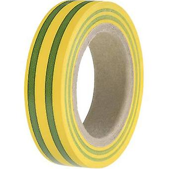 HellermannTyton HelaTape Flex 15 710-00106 Electrical tape HelaTape Flex 15 Green-yellow (L x W) 10 m x 15 mm 1 Rolls