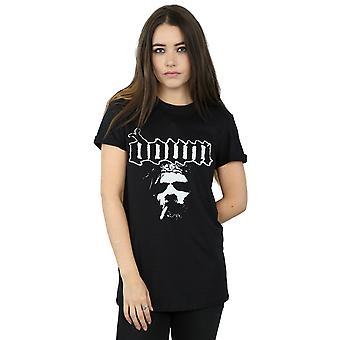 Ner kvinnors rök ansikte pojkvän Fit T-Shirt