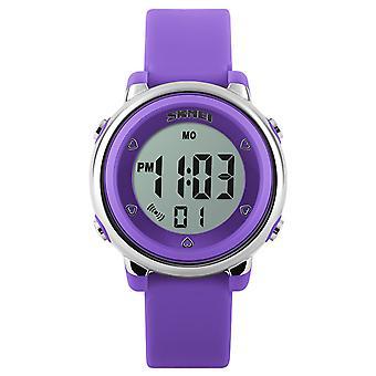 Skmei 女の子紫デジタル時計 50 m 防水ストップウォッチ アラーム付きの年齢 5 + DG1100