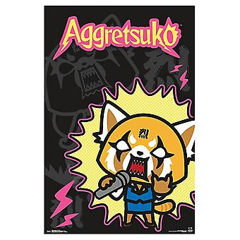 Aggretsuko - Rock Out Poster Print