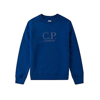 C.P. Company Undersixteen Royal Blue Reflective Logo Sweatshirt