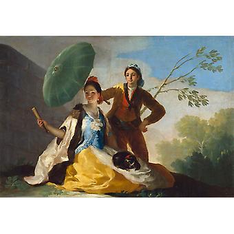 The Parasol, Francisco de Goya y Lucientes, 60x40cm