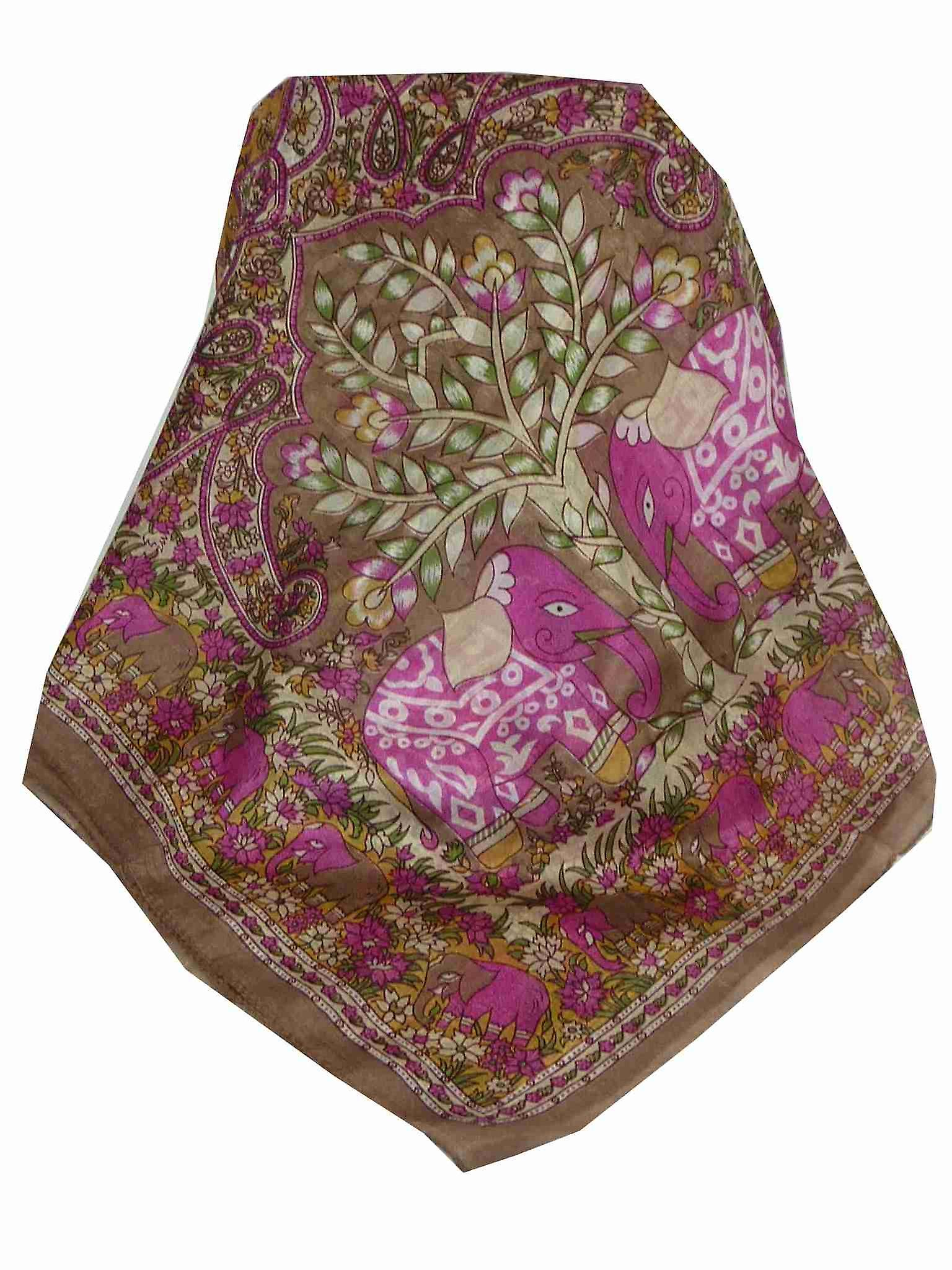 Mulberry Silk Traditional Long Scarf Nam Caramel by Pashmina & Silk