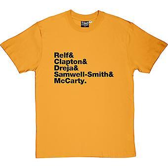 The Yardbirds Line-Up Yellow Men-apos;s T-Shirt