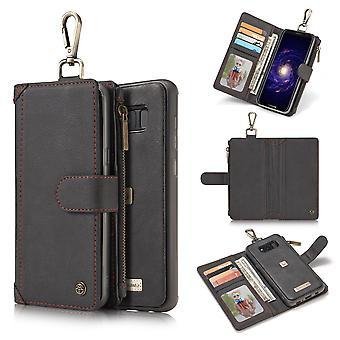 CASEME Samsung Galaxy S8 Retro leather wallet Case-Black