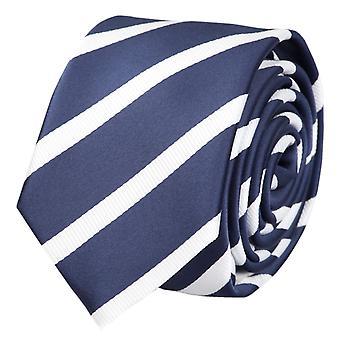 Tie tie tie tie narrow 6cm blue/white striped Fabio Farini
