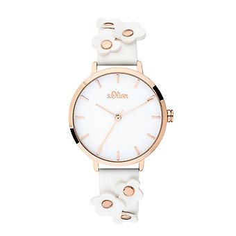 s.Oliver women's watch wristwatch leather SO-3699-LQ