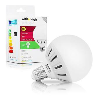 Whitenergy E27 LED G95 Screw Fit Light Bulb 15W 175-250V White Warm