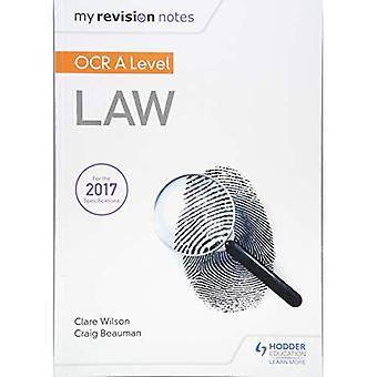 Mes Notes de révision: OCR un niveau droit