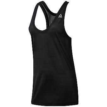 Reebok Workout prêt ACTIVChill Womens Mesdames Fitness Vest Tank noir