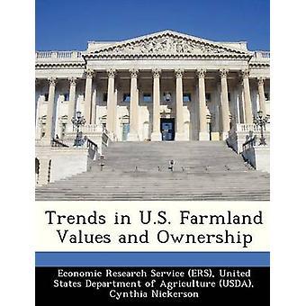 Las tendencias en valores de tierras de cultivo de Estados Unidos y propiedad por investigación económica servicio ERS y Unidos