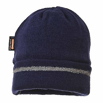 Portwest - Reflective Trim Knit Hat Insulatex Lined Navy Regular