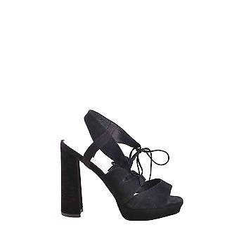 Jeffrey Campbell Ezbc132013 Women's Black Velvet Sandals
