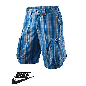 Nike mannen uitdaging Plaid geweven katoenen Cargo Shorts - 465137-073