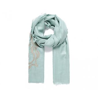 Fable Womens/Ladies Lotus Embroidered Scarf