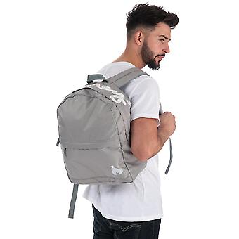 Money Black Label Back Pack In Grey- One Main Zip Compartment- Zip Pocket To