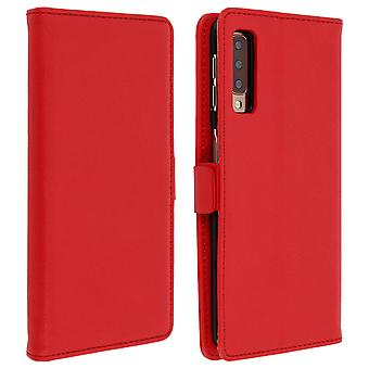 Samsung Galaxy A7 2018 Case Wallet Stand Support DZgogo - Red
