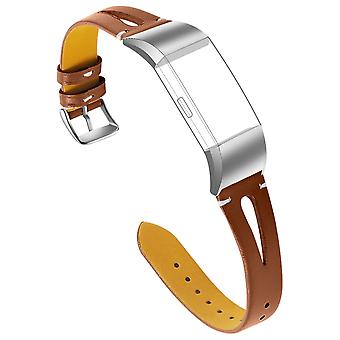 FitBit Charge 2 Sangle Original Cuir Textured Effect Metal Buckle