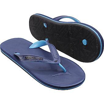Quiksilver Mens Haleiwa II Casual Flip Flops - Azul Oscuro / Azul Claro