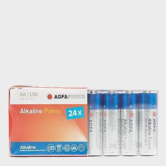 New AgfaPhoto Alkaline Power AA Batteries 24 Pack Blue