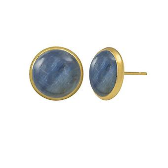 Eternal Collection Symphony Kyanite Gold Pierced Stud Earrings
