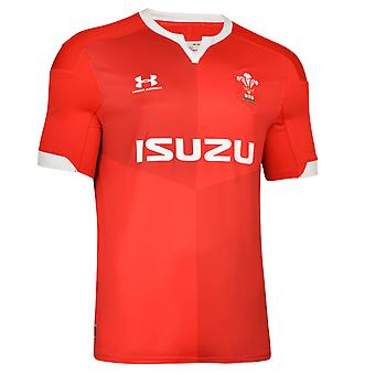 Under Armour Wales 2019/20 Herren Home Replica Rugby Union Jersey Shirt rot
