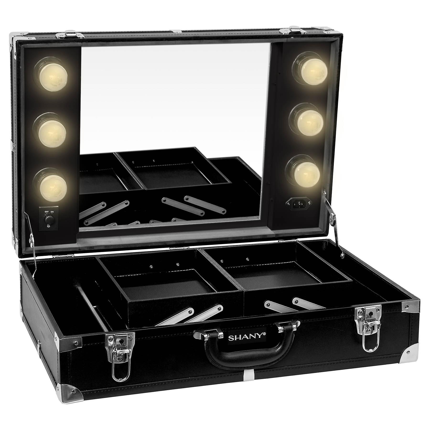 SHANY Studio-To-Go Tabletop Mirror Makeup Station - Cas de maquillage avec dimmable LED Lights Inclus et Poignée de transport
