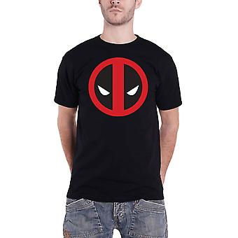 Deadpool T Shirt Classic Angry Face Logo new Official Marvel Mens Black
