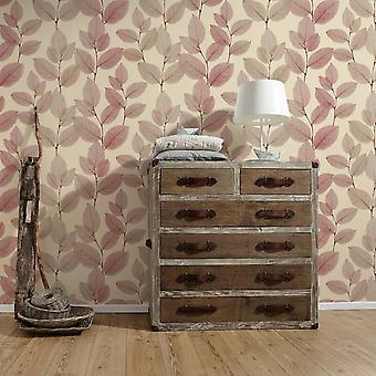 A.S. Creation AS Création Automne Leaves Pattern Wallpaper Botanical Floral Tree Leaf 342473