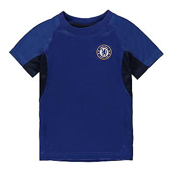 Source Lab Boys Chelsea FC Poly T Shirt Infant Short Sleeve Crew T-Shirt Top Kid