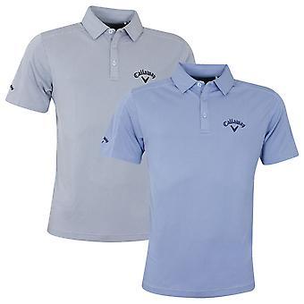 Callaway Mens New Box Jacquard Tour Opti-Dri Golf Polo Shirt