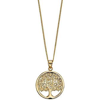 Elements Gold Tree Of Life Pendant - Gold