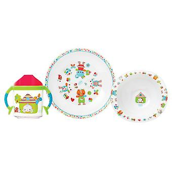 Saro Tableware 3 pcs.  Sweet Garden  (Kitchen , Household , Child's)