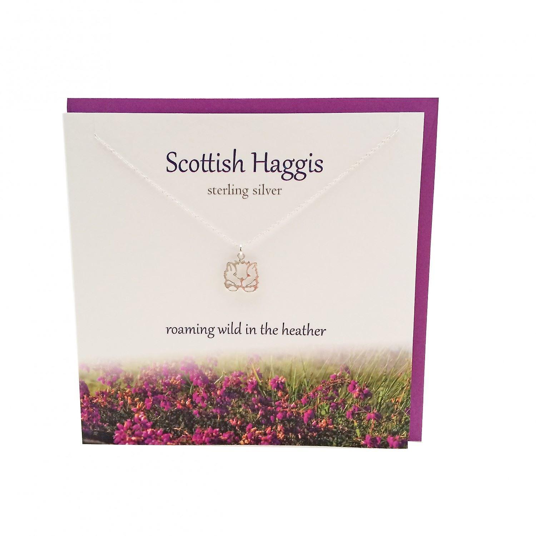 The Silver Studio Scottish Collection Scottish Haggis Pendant Card