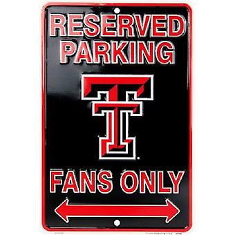 Texas Tech Red Raiders NCAA Fans Only Reserved Parking Sign