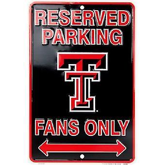 Texas Tech Red Raiders NCAA fãs apenas reservados sinal de estacionamento