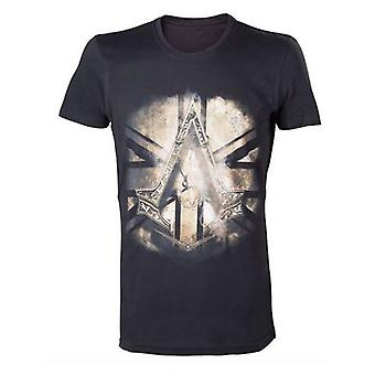 Assassins Creed Syndicate Bronze Crest T-Shirt XL Black Model. TS238509ACS-XL
