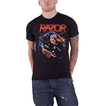 Razor T Shirt Evil Invaders Band Logo new Official Mens Black